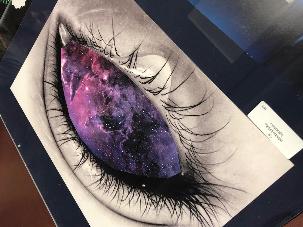 student drawn art of an eye